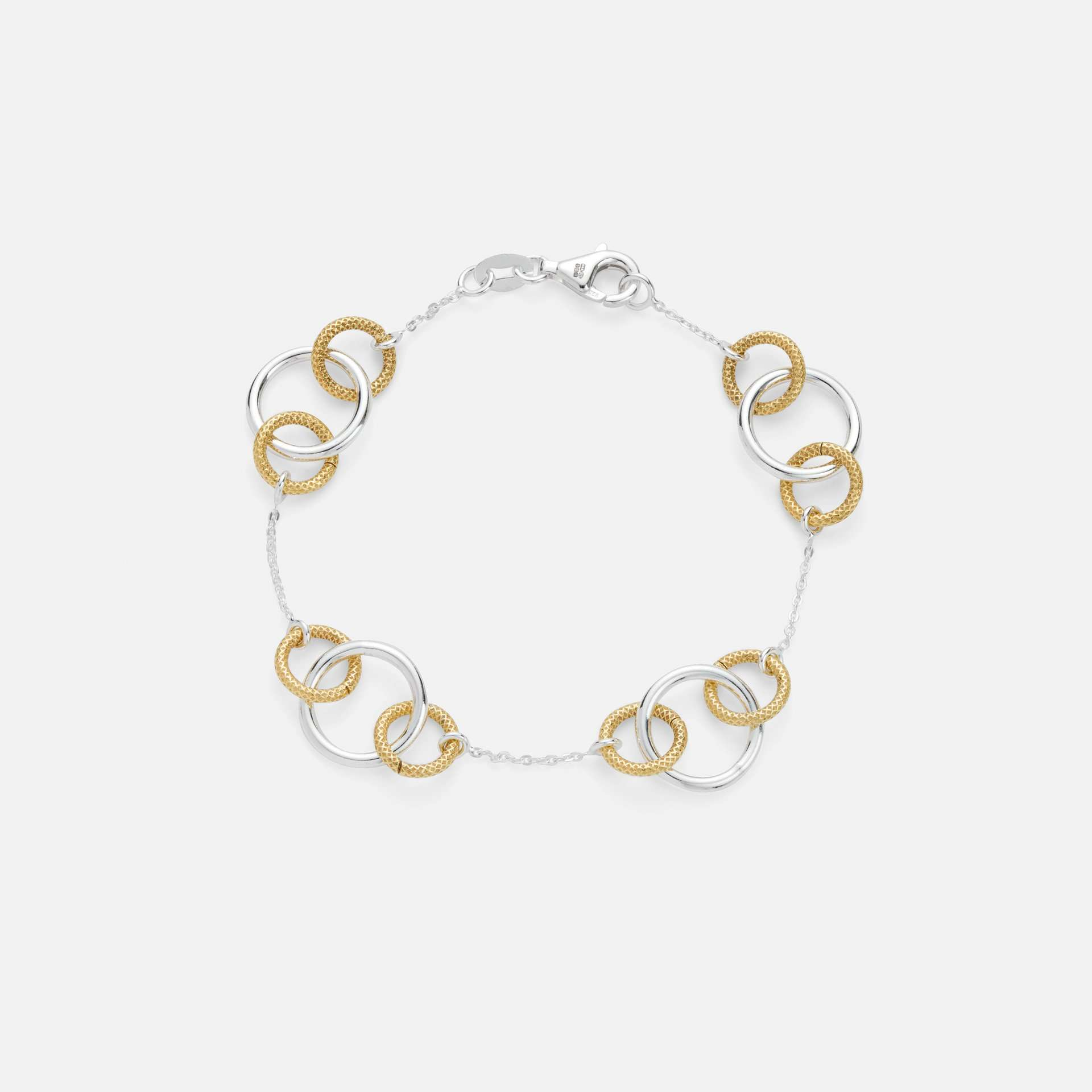 Beauly Rings Bracelet Silver and Gold