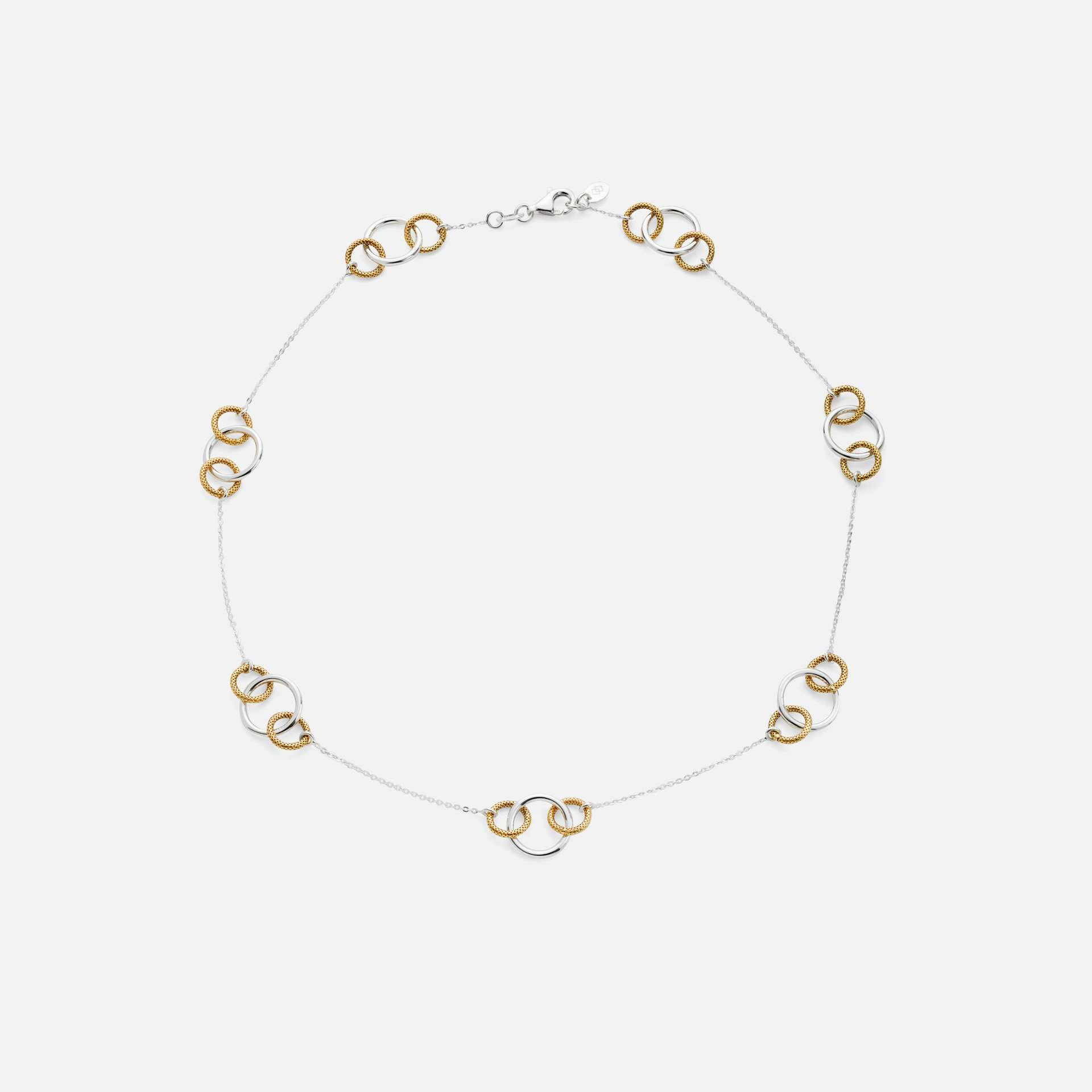 Beauly Rings Necklace Silver and Gold