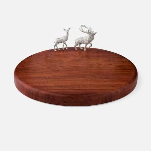 Large Round Board - Stag and Hind 1