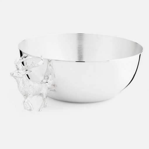 Large Silver Bowl - Stag 1