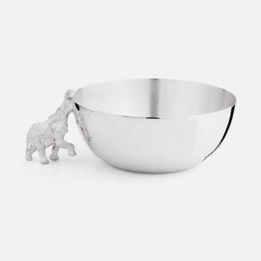 Medium Silver Bowl - Elephant 1