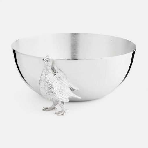 Medium Silver Bowl - Grouse