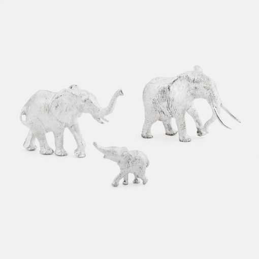 Silver Elephant Figurines - Large 1
