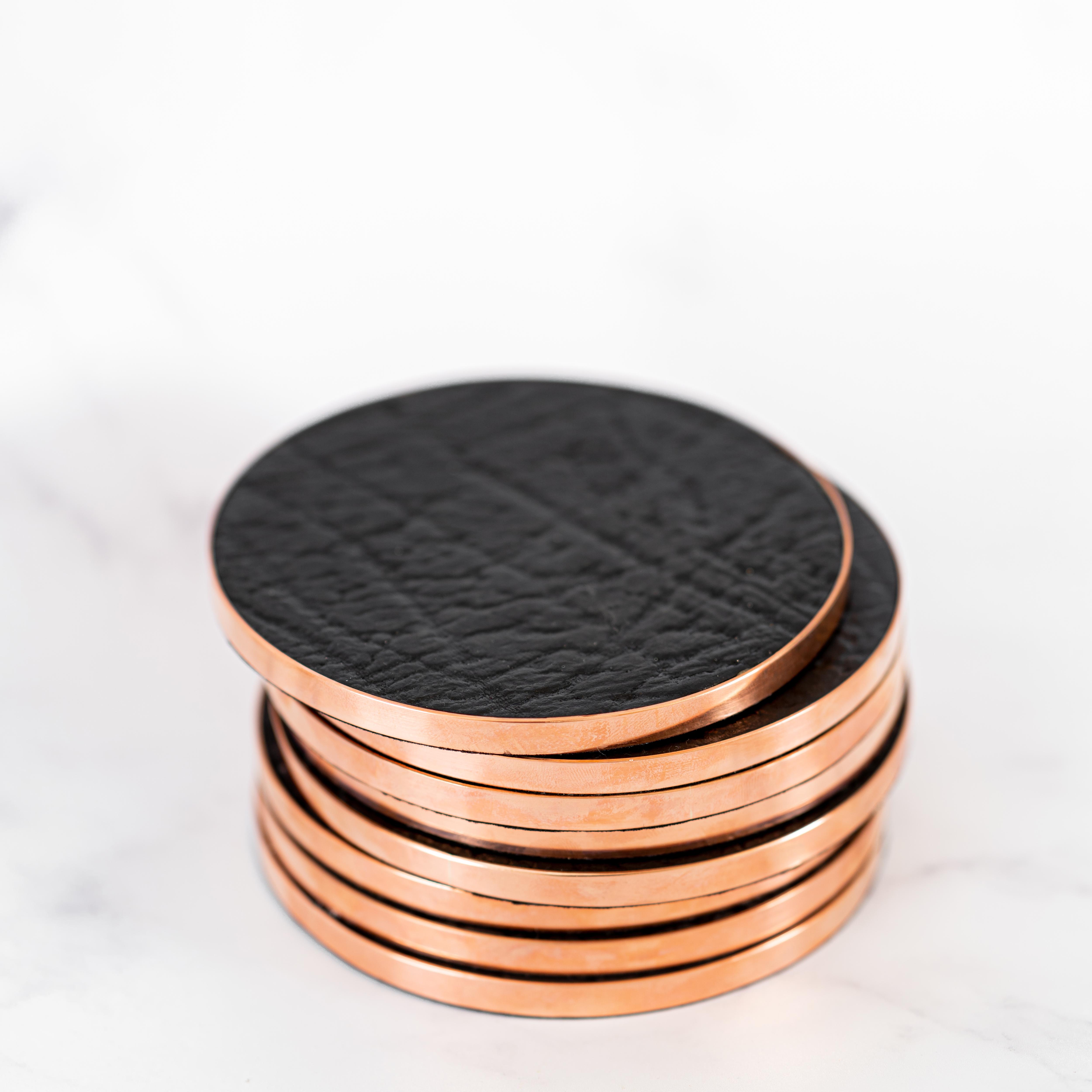 Copper Leather Coaster