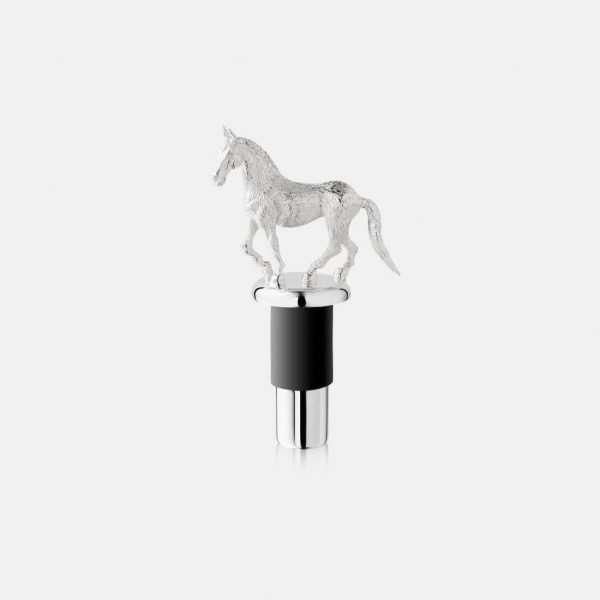 Silver Horse Bottle Stopper