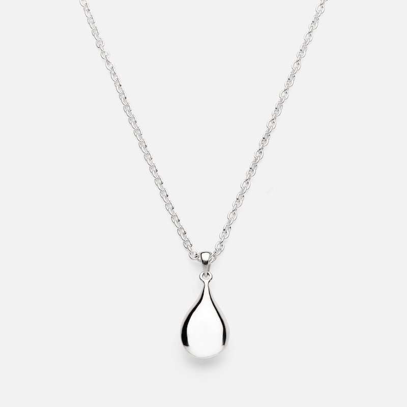 Silver Pebble Necklace - Large