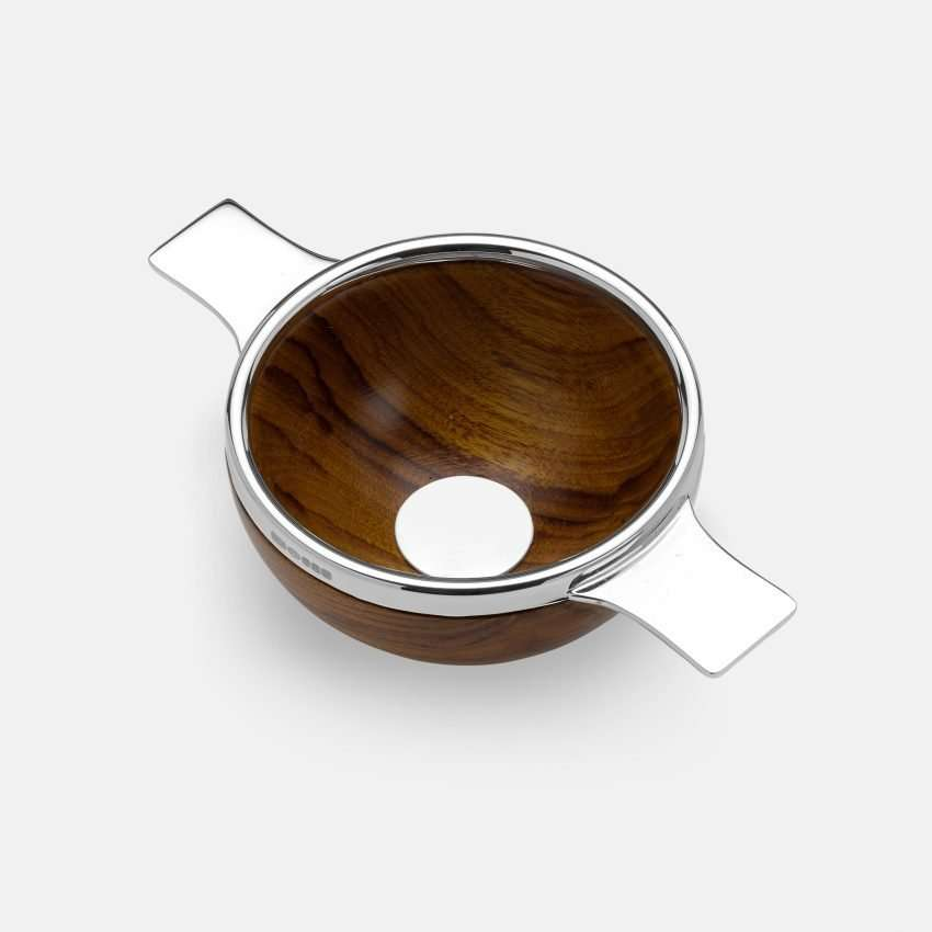 Wooden Quaich with Sterling Silver lugs