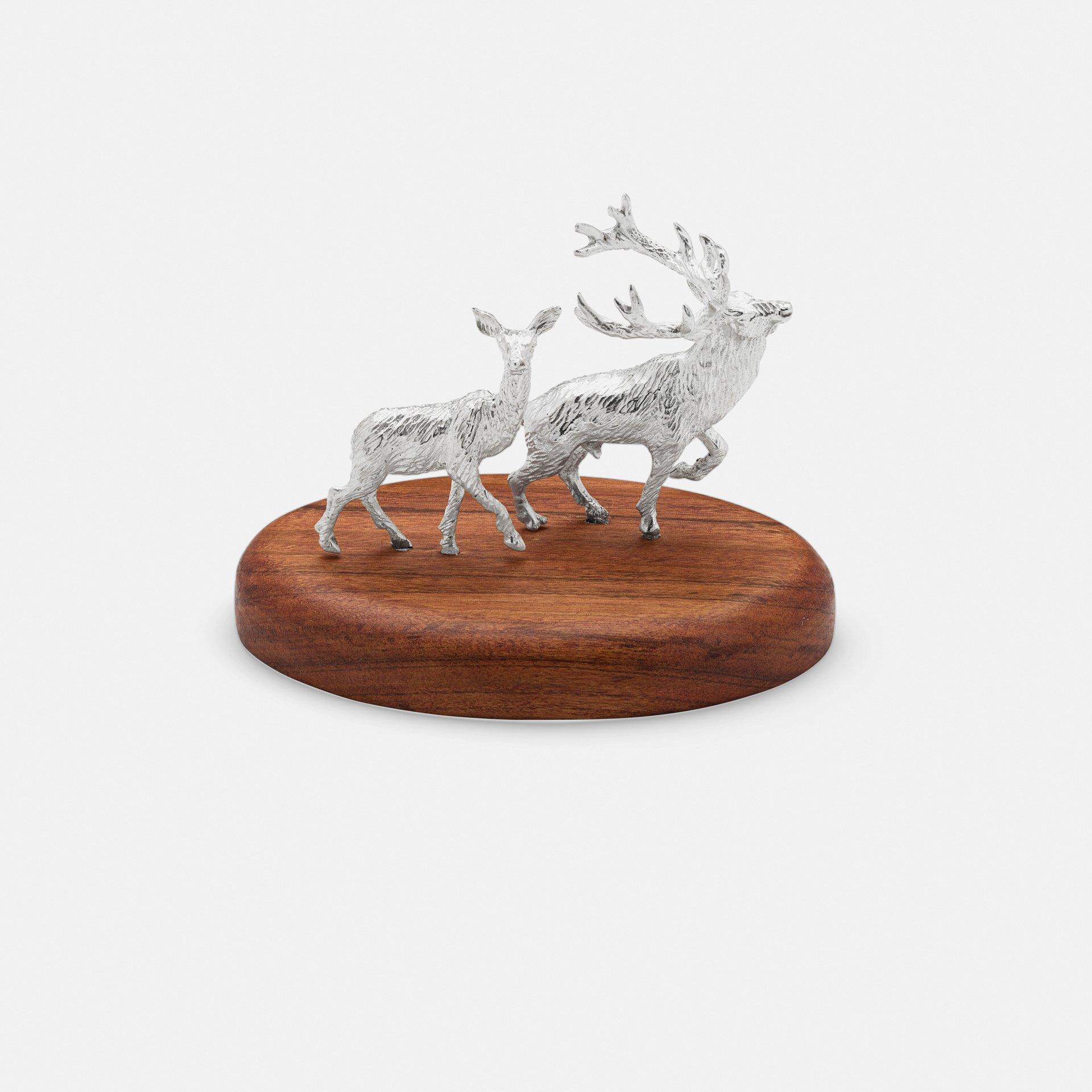 Red Deer Pair on Plinth
